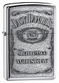 SKU-250JD427  JD LABEL PEWTER EMBLEM HIGH POLISH CHROME ZIPPO LIGHTER