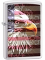 SKU-28652 EAGLE WITH FLAG ZIPPO LIGHTER