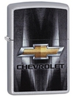 SKU-29569 CHEVROLET SATIN CHROME  ZIPPO LIGHTER