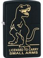 SKU-29629 LICENSED TO CARRY SMALL ARMS LASER ENGRAVED BLACK MATTE  ZIPPO LIGHTER