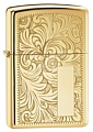 SKU-352B  VENETIAN HIGH POLISH BRASS ZIPPO LIGHTER