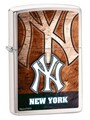 SKU-812776--ZIPPO BRUSHED CHROME FINISH NEW YORK YANKEES ZIPPO LIGHTER