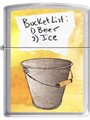 SKU-861385--ZIPPO SATIN CHROME FINISH BUCKET LIST ZIPPO LIGHTER